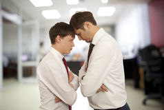 Office life. Business conflict concept Stock Image
