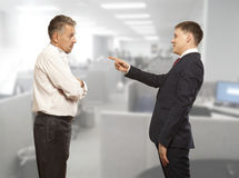Office life. Business conflict concept Royalty Free Stock Image