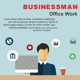 Office life and business man. Workplace. Office life and business man. Workplace Royalty Free Stock Photos