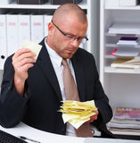 Office life - Businessman looking for copyspace Stock Images