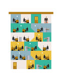 Office life Corporate. Managers in workplace. Business situation Stock Photography