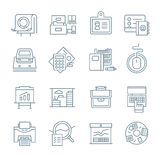 Office Life Icons Collection Stock Photography