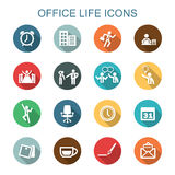 Office life long shadow icons Royalty Free Stock Photos