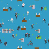 Office life pattern. Corporate background. Managers in workplace Royalty Free Stock Images