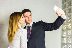 Office life - selfie. Stock Images