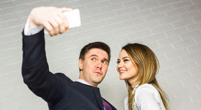 Office life - selfie. Stock Image