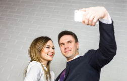 Office life - selfie. Royalty Free Stock Images