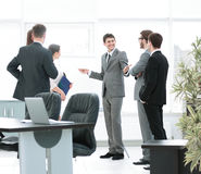 Office life. workplace and business team discussing a new busine Royalty Free Stock Photo