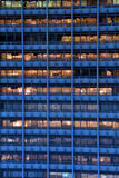Office lights. Still switched on after office hours stock images