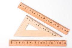 Office line close-up. measurement of magnitude. centimeter close up. millimeter close up. Wooden ruler. ruler scale. measurement scale. unit of measure. drawing stock image