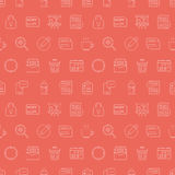 Office line icon pattern set Royalty Free Stock Image