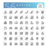 Office Line Icons Set. Set of 56 office line icons suitable for web, infographics and apps. Isolated on white background. Clipping paths included royalty free illustration