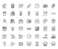 Office line icons Royalty Free Stock Photos