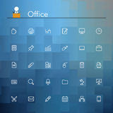 Office Line Icons. Office and workplace line Icons set. Vector illustration Royalty Free Stock Photo