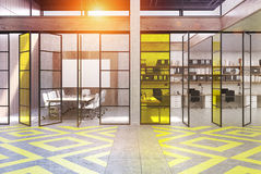 Office lobby with meeting room, toned Royalty Free Stock Image