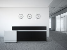Office lobby with a reception desk. 3d render Royalty Free Stock Photo