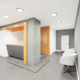 Office lobby with a reception desk Stock Photography