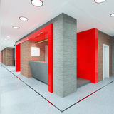 Office lobby with a reception desk Royalty Free Stock Image
