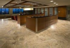 Office Lobby shot at Dusk Stock Photo