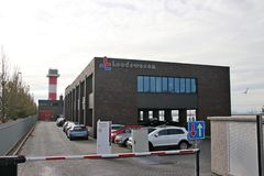 Office of the Loodswezen in the port of Hoek van Holland for pilot ships. stock photography