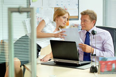 Office love affair concept stock image