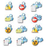 Office man activities 3. Icon set suitable for GUI integration in custom application software Stock Photo