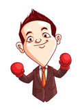 Office Man Boxing Royalty Free Stock Images