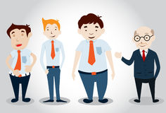 Office Man Characters Stock Image