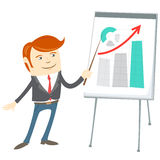 Office man presentating a graph on flipchart Royalty Free Stock Photos