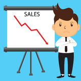 Office Man Presenting Sales Stock Photography
