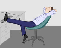 The office man relaxing. Vector Royalty Free Stock Photography