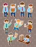 Office man stickers Royalty Free Stock Images