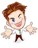 Office man surrender action. Office man finish action can do it Royalty Free Stock Photography