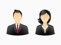 Office man and woman avatar Stock Photos