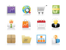 Office Management Icons Stock Photo