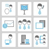 Office management icons Stock Photography