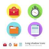 Office management icons set Royalty Free Stock Images