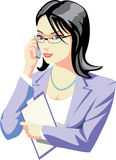 Office manager. Woman office manager making a call Royalty Free Stock Image