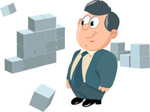 Office Manager.Cube Royalty Free Stock Photography