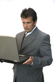 Office manager with laptop Royalty Free Stock Photos