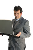 Office manager with laptop Royalty Free Stock Photography