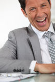 Office manager laughing Royalty Free Stock Photography