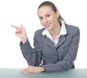 Office manager (reception desk worker) Stock Photo
