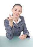Office manager (reception desk worker) Stock Photography