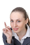 Office manager (reception desk worker) Stock Images