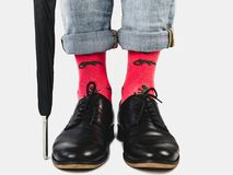 Office Manager in stylish shoes and bright socks stock illustration