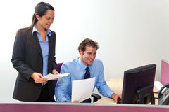 Office manager and work colleague Royalty Free Stock Images