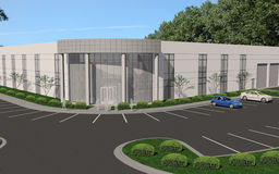 Office / manufacturing. 3d rendering of a office / manufacturing building
