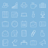 Office and marketing thin lines icons set Royalty Free Stock Photos