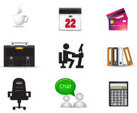 Office material icon collection set. Create by vector Royalty Free Stock Image